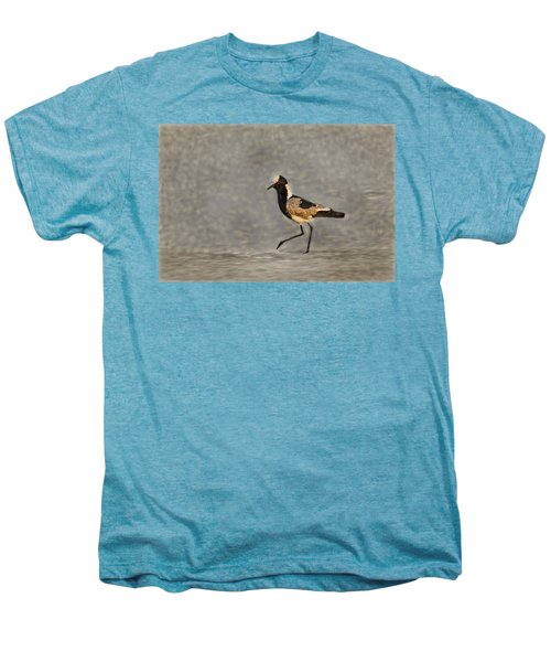Black-winged Lapwing Art Men's Premium T-Shirt by Kay Brewer