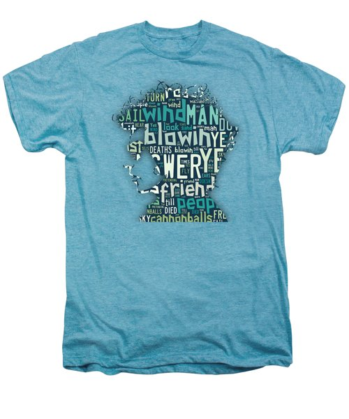 Bob Dylan Blowin In The Wind Men's Premium T-Shirt by Marvin Blaine