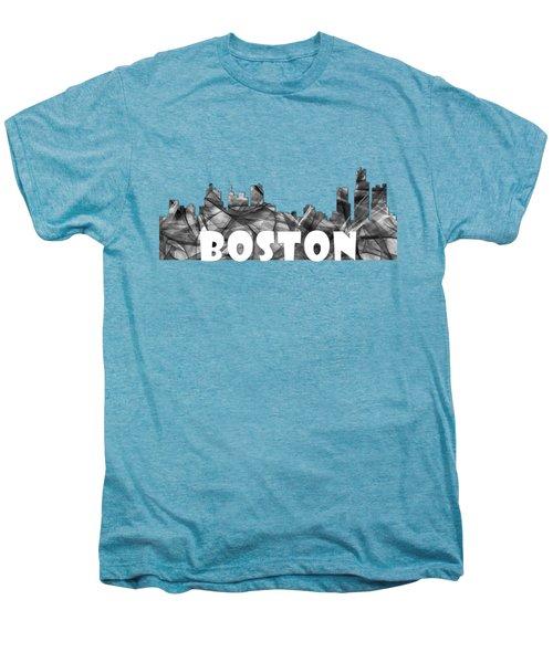 Boston Massachusetts Skyline Men's Premium T-Shirt by Marlene Watson