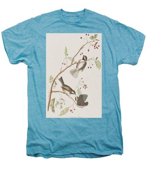 Canadian Titmouse Men's Premium T-Shirt by John James Audubon