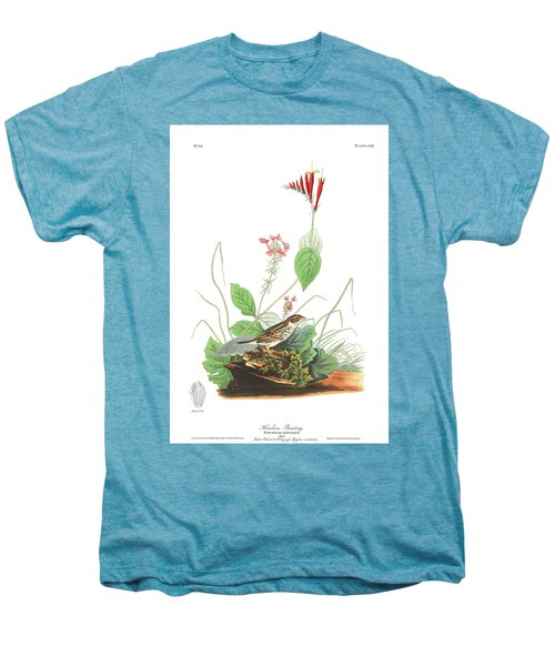 Henslow's Bunting  Men's Premium T-Shirt by John James Audubon