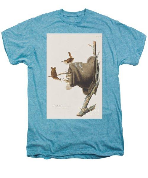 House Wren Men's Premium T-Shirt by John James Audubon
