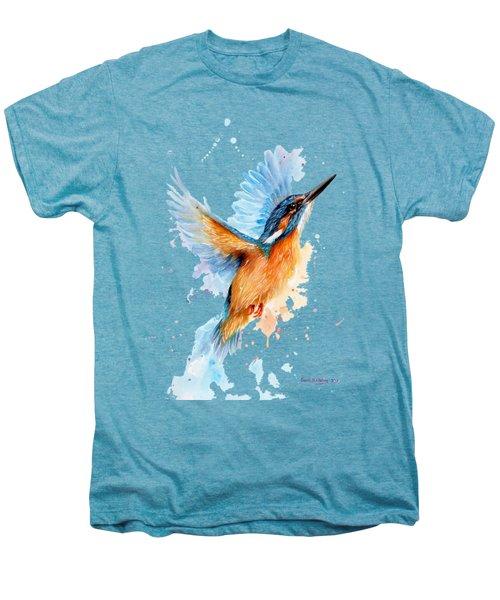 Kingfisher Men's Premium T-Shirt by Sarah Stribbling