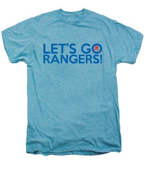 Let's Go Rangers Men's Premium T-Shirt by Florian Rodarte