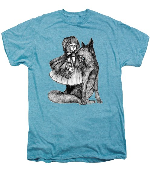 Little Red Riding Hood Men's Premium T-Shirt by Akiko Okabe