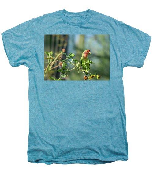 Lovely Little Lovebird  Men's Premium T-Shirt by Saija Lehtonen