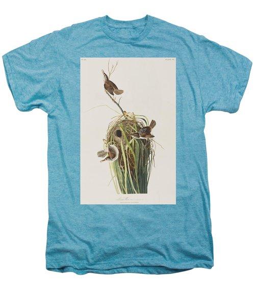 Marsh Wren  Men's Premium T-Shirt by John James Audubon