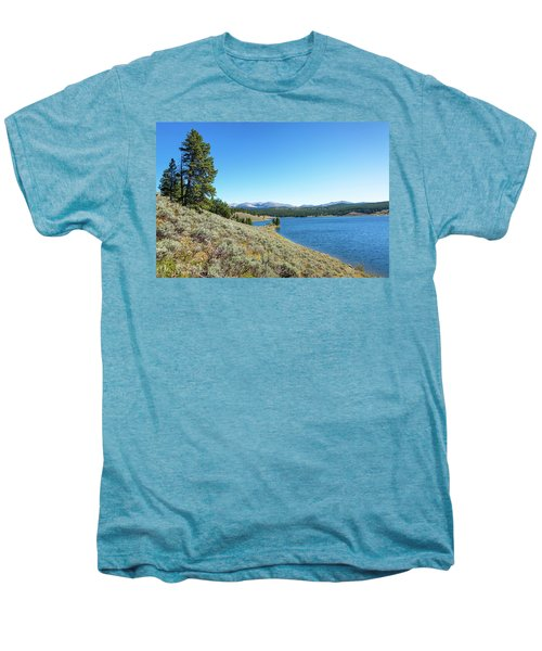 Meadowlark Lake View Men's Premium T-Shirt by Jess Kraft