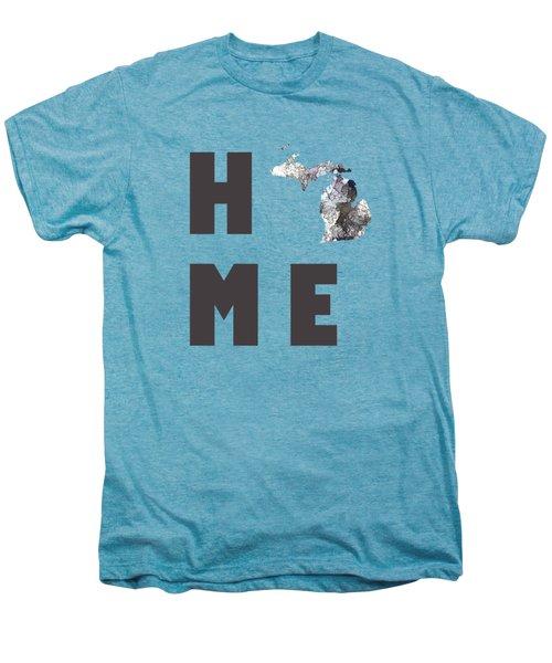 Michigan State Map Men's Premium T-Shirt by Marlene Watson