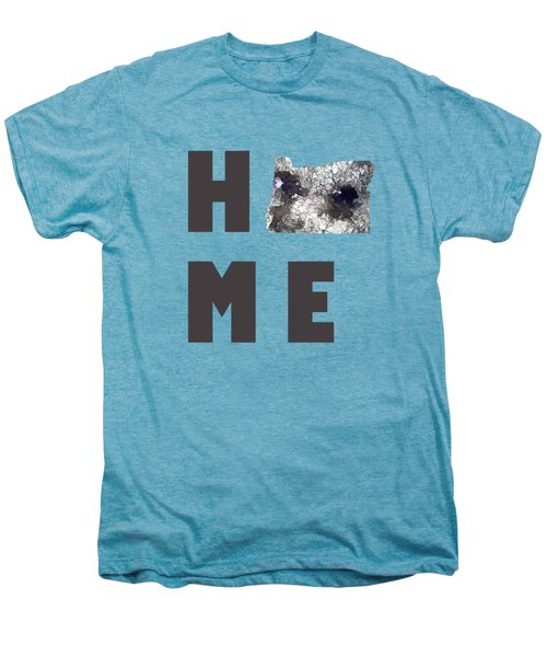 Oregon State Map Men's Premium T-Shirt by Marlene Watson