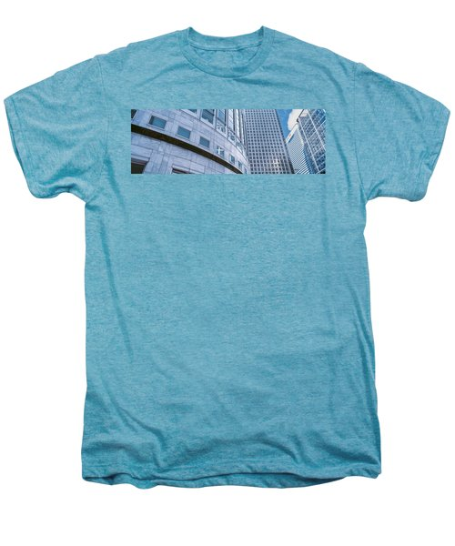 Skyscrapers In A City, Canary Wharf Men's Premium T-Shirt by Panoramic Images