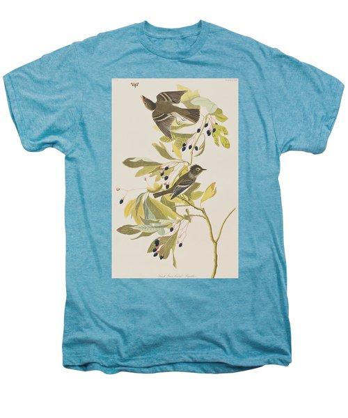 Small Green Crested Flycatcher Men's Premium T-Shirt by John James Audubon