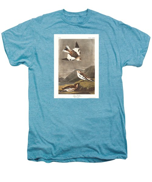 Snow Bunting Men's Premium T-Shirt by John James Audubon