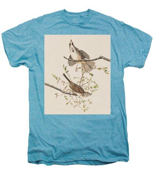 Song Sparrow Men's Premium T-Shirt by John James Audubon