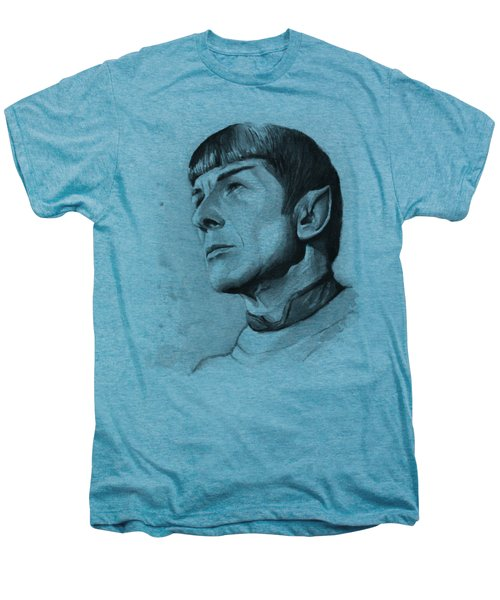 Spock Portrait Men's Premium T-Shirt by Olga Shvartsur
