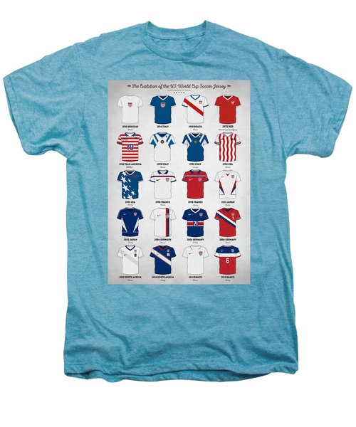 The Evolution Of The Us World Cup Soccer Jersey Men's Premium T-Shirt by Taylan Soyturk