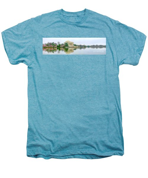 Tidal Basin With Cherry Blossoms Men's Premium T-Shirt by Jack Schultz
