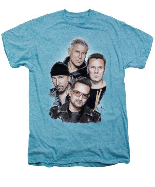 U2 Men's Premium T-Shirt by Melanie D