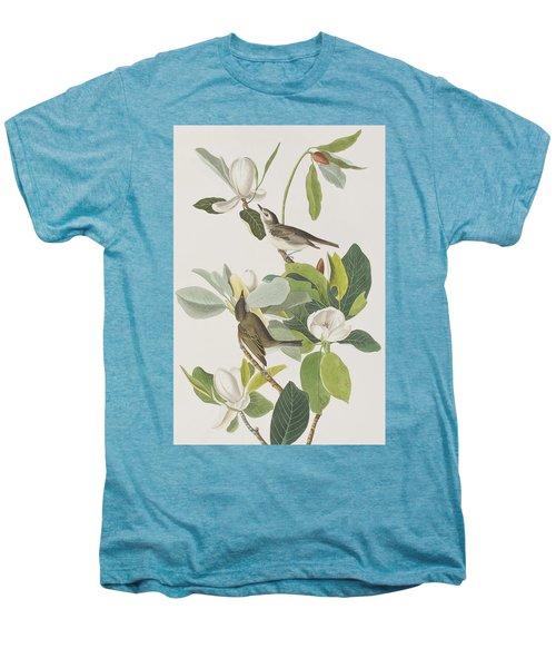 Warbling Flycatcher Men's Premium T-Shirt by John James Audubon