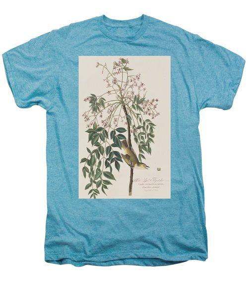White-eyed Flycatcher Men's Premium T-Shirt by John James Audubon