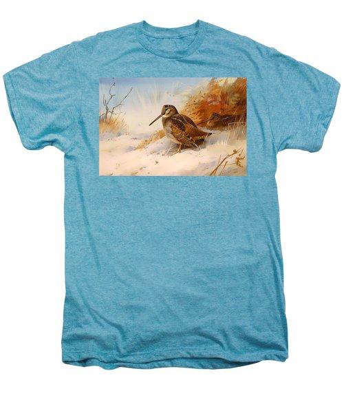 Winter Woodcock Men's Premium T-Shirt by Mountain Dreams