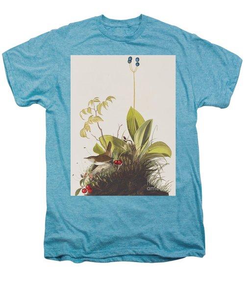 Wood Wren Men's Premium T-Shirt by John James Audubon