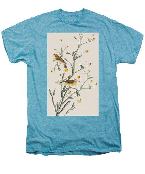 Yellow Red-poll Warbler Men's Premium T-Shirt by John James Audubon
