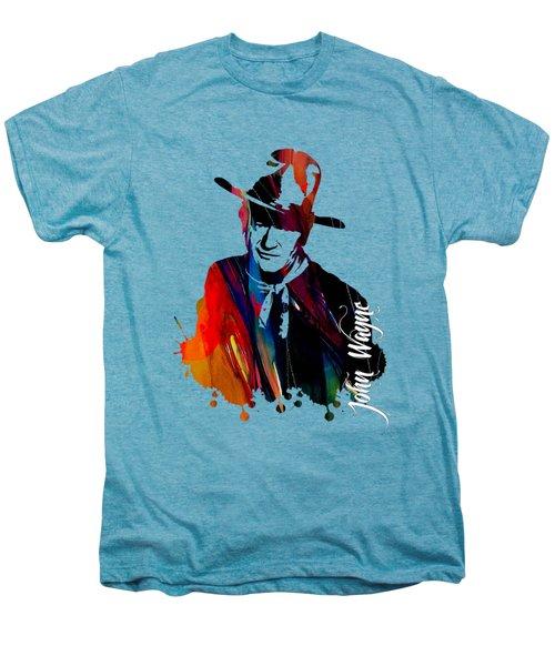 John Wayne Collection Men's Premium T-Shirt by Marvin Blaine