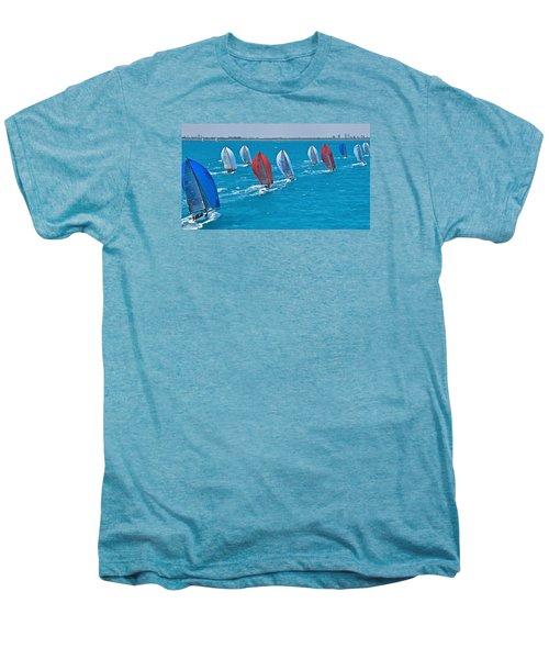 Miami Skyline Regatta Men's Premium T-Shirt by Steven Lapkin