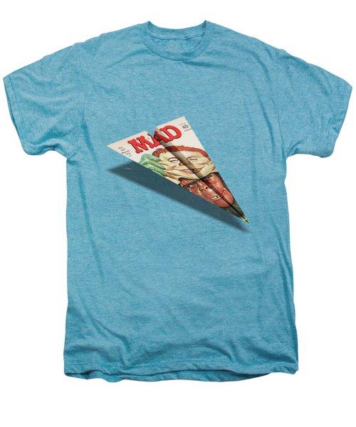 157 Mad Paper Airplane Men's Premium T-Shirt by YoPedro