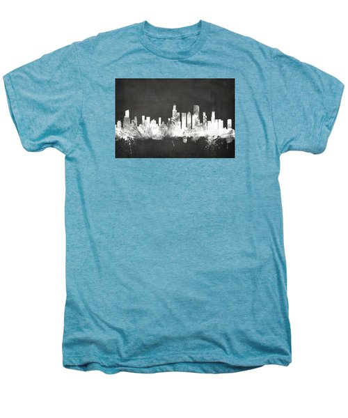 Chicago Illinois Skyline Men's Premium T-Shirt by Michael Tompsett