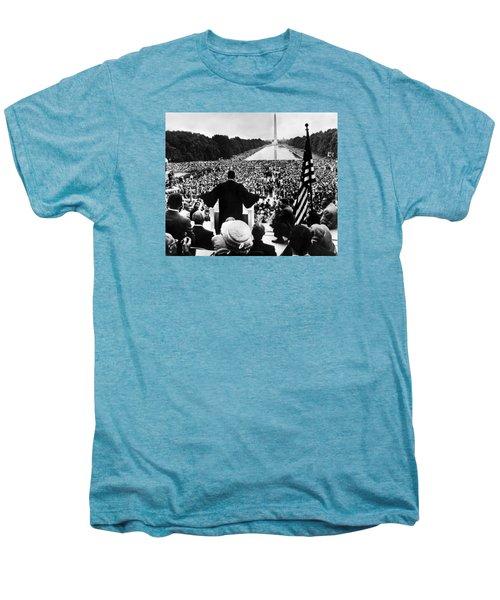 Martin Luther King Jr Men's Premium T-Shirt by American School