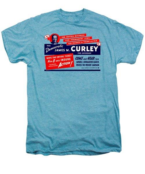 1934 James Michael Curley Men's Premium T-Shirt by Historic Image