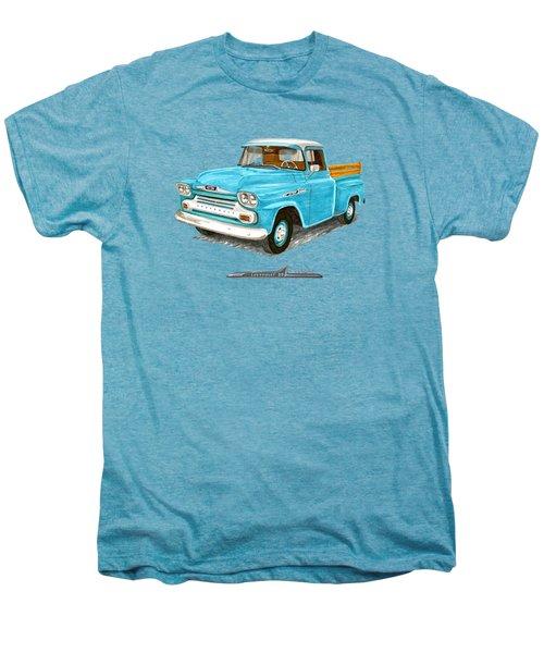 1958 Chevrolet Apache Pick Up Men's Premium T-Shirt by Jack Pumphrey