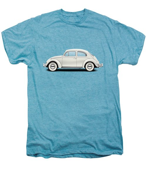 1961 Volkswagen Deluxe Sedan - Pearl White Men's Premium T-Shirt by Ed Jackson