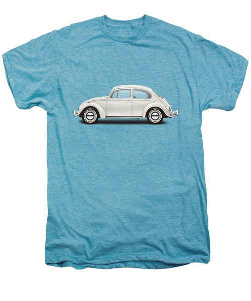 1966 Volkswagen 1300 Sedan - Pearl White Men's Premium T-Shirt by Ed Jackson
