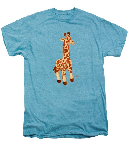 Cuddly Giraffe Men's Premium T-Shirt by Angeles M Pomata