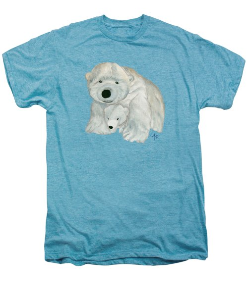 Cuddly Polar Bear Men's Premium T-Shirt by Angeles M Pomata