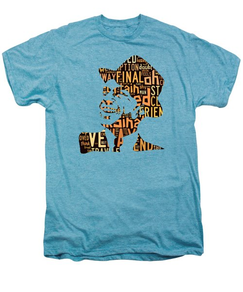 Frank Sinatra I Did It My Way Men's Premium T-Shirt by Marvin Blaine