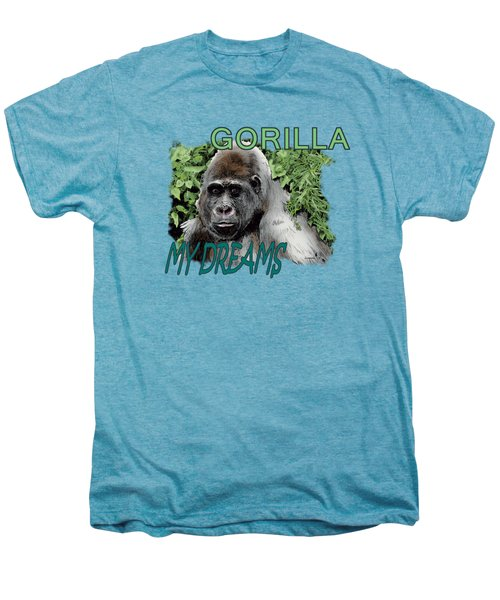 Gorilla My Dreams Men's Premium T-Shirt by Joseph Juvenal