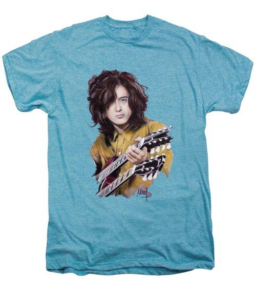 Jimmy Page Men's Premium T-Shirt by Melanie D