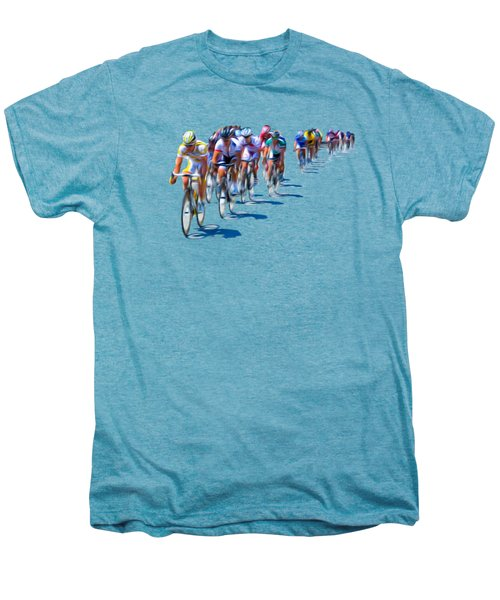 Philadelphia Bike Race Men's Premium T-Shirt by Bill Cannon