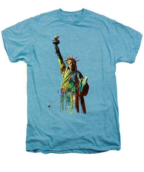 Statue Of Liberty Men's Premium T-Shirt by Marlene Watson