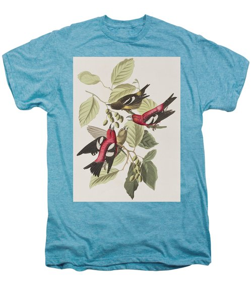White-winged Crossbill Men's Premium T-Shirt by John James Audubon