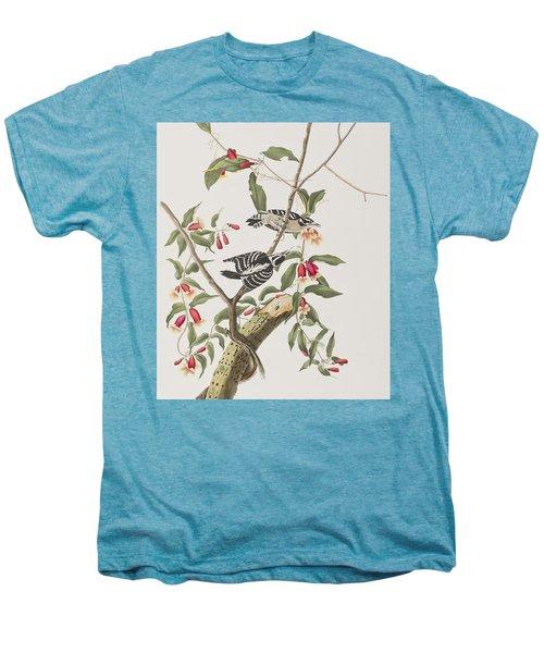 Downy Woodpecker Men's Premium T-Shirt by John James Audubon