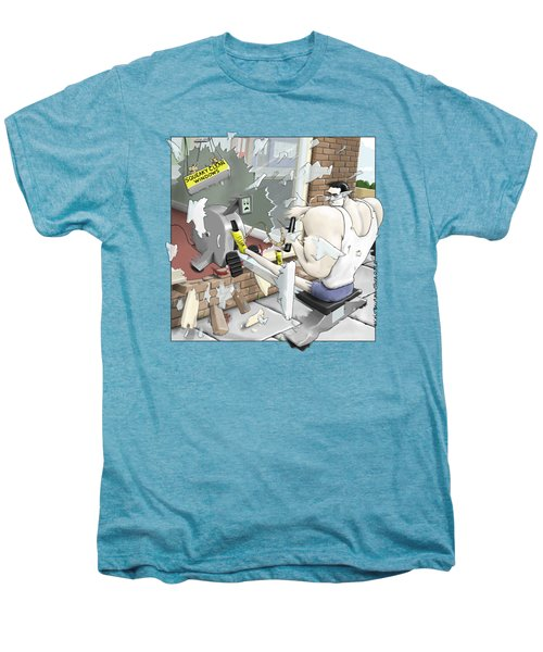 Jim's Oarsome Strength Men's Premium T-Shirt by Kris Burton-Shea