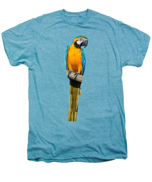 Blue And Gold Macaw Men's Premium T-Shirt by George Atsametakis