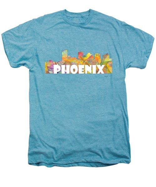 Phoenix Arizona Skyline Men's Premium T-Shirt by Marlene Watson