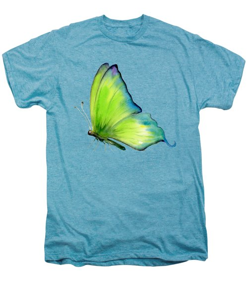 4 Skip Green Butterfly Men's Premium T-Shirt by Amy Kirkpatrick