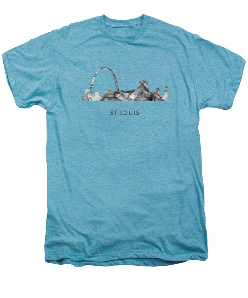 St Louis Missouri Skyline Men's Premium T-Shirt by Marlene Watson